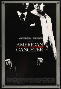 2y065 AMERICAN GANGSTER DS 1sh '07 Denzel Washington, Russell Crowe, Ridley Scott directed!