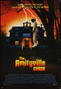 2y071 AMITYVILLE CURSE video 1sh '90 it began with a murder & hanging, now it returns!
