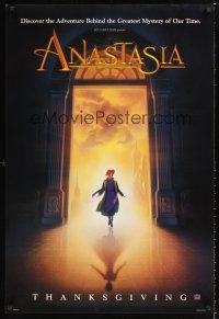 2y078 ANASTASIA style A teaser DS 1sh '97 Don Bluth cartoon about the missing Russian princess!