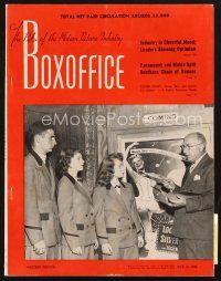 3d083 BOX OFFICE exhibitor magazine July 16, 1949 Too Late For Tears, Roughshod!