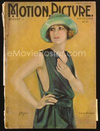 3d093 MOTION PICTURE magazine August 1922 art of sexy Claire Windsor by Ann Brockman!