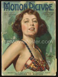 3d097 MOTION PICTURE magazine December 1922 artwork of sexy Dorothy Phillips by Florhi!