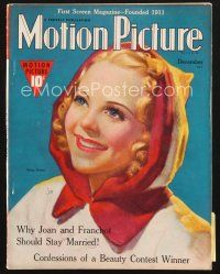 3d106 MOTION PICTURE magazine December 1938 artwork of pretty Sonja Henie wearing red hood!