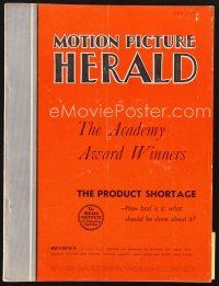 3d088 MOTION PICTURE HERALD exhibitor magazine April 2, 1955 Errol Flynn in The Warriors!