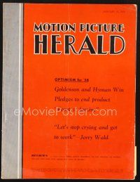 3d090 MOTION PICTURE HERALD exhibitor magazine Jan 21, 1956 Yvonne De Carlo in Flame of the Islands