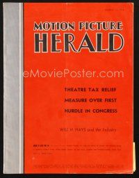 3d086 MOTION PICTURE HERALD exhibitor magazine March 13, 1954 Phantom of the Rue Morgue!