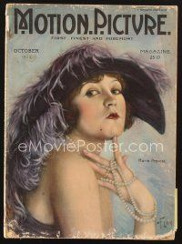 3d095 MOTION PICTURE magazine October 1922 artwork of glamorous Marie Prevost by Florhi!
