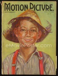 3d094 MOTION PICTURE magazine September 1922 artwork of Wesley Barry as Penrod by Ann Brockman!