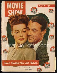 3d126 MOVIE SHOW magazine August 1948 portrait of Gary Cooper & Ann Sheridan starring in Good Sam!
