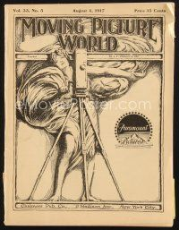 3d075 MOVING PICTURE WORLD exhibitor magazine August 4, 1917 Fairbanks, D.W. Griffith, Mutt & Jeff