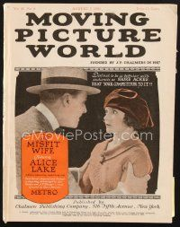 3d079 MOVING PICTURE WORLD exhibitor magazine Aug 7, 1920 Jack Dempsey,Babe Ruth,Annette Kellerman