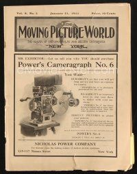 3d067 MOVING PICTURE WORLD exhibitor magazine January 21, 1911 filled with hundred year-old ads!