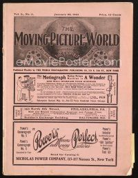 3d065 MOVING PICTURE WORLD exhibitor magazine January 22, 1910 filled with hundred year-old ads!