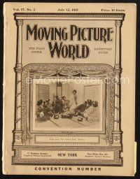 3d069 MOVING PICTURE WORLD exhibitor magazine July 12, 1913 Edison, Fantomas, Essanay & more!
