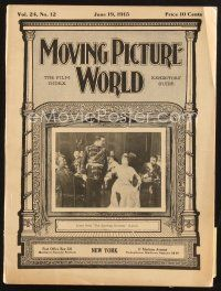 3d071 MOVING PICTURE WORLD exhibitor magazine June 19, 1915 John Barrymore in The Dictator!