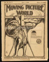 3d077 MOVING PICTURE WORLD exhibitor magazine June 1, 1918 Charlie Chaplin, Theda Bara as Cleopatra
