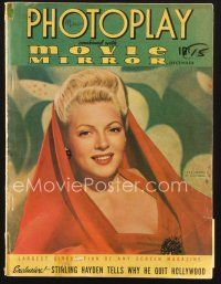 3d116 PHOTOPLAY magazine December 1941 portrait of sexy Lana Turner by Paul Hesse!
