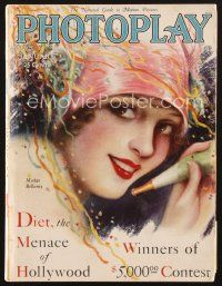 3d110 PHOTOPLAY magazine January 1929 New Year's portrait of Madge Bellamy by Charles Sheldon!