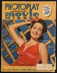 3d111 PHOTOPLAY magazine July 1941 portrait of sexy Dorothy Lamour in swimsuit by Paul Hesse!