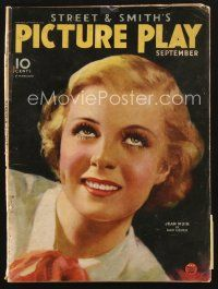 3d121 PICTURE PLAY magazine September 1934 head & shoulders portrait of Jean Muir by Dan Osher!