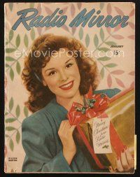 3d128 RADIO MIRROR magazine January 1946 portrait of Eileen Barton by Salvatore Consentino!