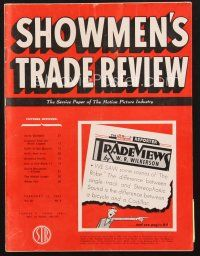 3d085 SHOWMEN'S TRADE REVIEW exhibitor magazine February 13, 1954 sexiest Cleo Moore in Bait!