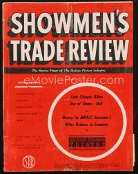 3d087 SHOWMEN'S TRADE REVIEW exhibitor magazine September 18, 1954 CinemaScope is beyond words!