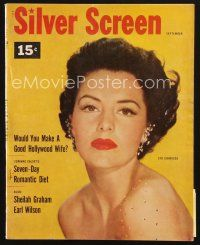 3d131 SILVER SCREEN magazine September 1953 portrait of beautiful Cyd Charisse, star of Band Wagon