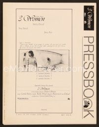 3d132 3 WOMEN pressbook '77 directed by Robert Altman, Shelley Duvall, Sissy Spacek, Janice Rule