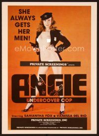 3d133 ANGIE UNDERCOVER COP pressbook '80 Samantha Fox is the naked cop who always gets her man!