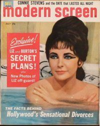 3d043 LOT OF 11 MODERN SCREEN MAGAZINES '63 Elizabeth Taylor on the cover of most!