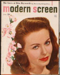 3d031 LOT OF 6 MODERN SCREEN MAGAZINES '48 Grable, Temple, Bergman, Allyson, Crain, Williams