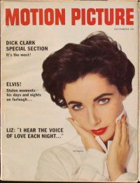 3d040 LOT OF 10 MOTION PICTURE MAGAZINES '58 Janet Leigh, Liz Taylor, Natalie Wood, Doris Day