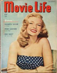 3d032 LOT OF 10 MOVIE LIFE MAGAZINES '49 Liz Taylor, Doris Day, Frank Sinafra, Shirley Temple