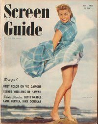 3d033 LOT OF 10 SCREEN GUIDE MAGAZINES '50 Elizabeth Taylor, Doris Day, Esther Williams & more!