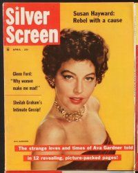 3d038 LOT OF 10 SILVER SCREEN MAGAZINES '56-58 Liz Taylor, Ava Gardner, Doris Day, Natalie Wood