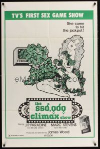 3e004 $50,000 CLIMAX SHOW 1sh '75 TV's 1st sex gameshow, she came to hit the jackpot!