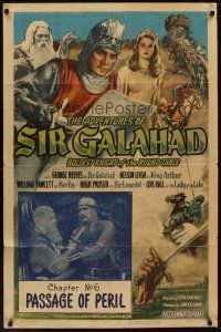 3e019 ADVENTURES OF SIR GALAHAD chapter 6 1sh '49 George Reeves, Passage of Peril!