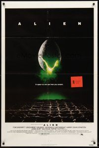 3e027 ALIEN int'l 1sh '79 Ridley Scott outer space sci-fi monster classic, cool hatching egg image!