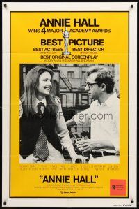 3e043 ANNIE HALL int'l 1sh '77 Woody Allen & Diane Keaton in New York City!