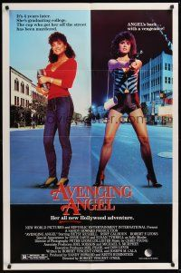 3e051 AVENGING ANGEL 1sh '84 Betsy Russell as hooker/college student!