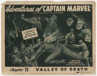 3h004 ADVENTURES OF CAPTAIN MARVEL Ch. 11 TC '41 art of Tom Tyler in costume fighting The Scorpion!