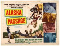3h006 ALASKA PASSAGE TC '59 America's last frontier, an avalanche of raw fury!