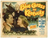 3h013 BLUE GRASS OF KENTUCKY TC '50 Bill Williams, Jane Nigh, Morgan, great horse racing images!