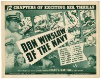 3h021 DON WINSLOW OF THE NAVY TC '41 Universal serial, 12 chapters of exciting sea thrills!