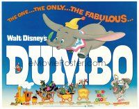 3h024 DUMBO TC R72 colorful art from Walt Disney circus elephant classic!
