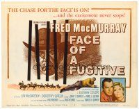 3h026 FACE OF A FUGITIVE TC '59 great artwork of cowboy Fred MacMurray behind bars!