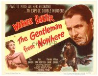 3h029 GENTLEMAN FROM NOWHERE TC '48 Warner Baxter is paid to pose as Fay Baker's husband!