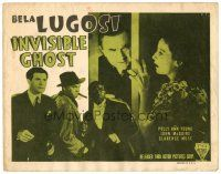 3h038 INVISIBLE GHOST TC R49 Bela Lugosi, Clarence Muse, Polly Ann Young, horror!