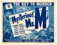 3h051 MYSTERIOUS MR M chapter 11 TC '46 cool Universal serial, The Key to Murder!